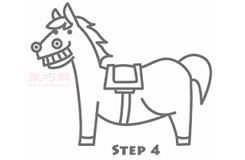 儿童简笔画木马的画法 教你怎么画木马简笔画