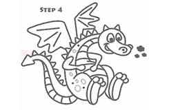 简笔画飞龙的画法 教你怎么画飞龙简笔画