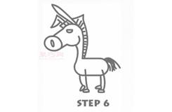 简易画驴子的步骤 画驴子的简笔画图片