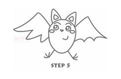 幼儿简笔画蝙蝠的画法 教你如何画蝙蝠简笔画