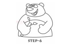 幼儿简笔画大熊猫的画法 教你如何画大熊猫简笔画