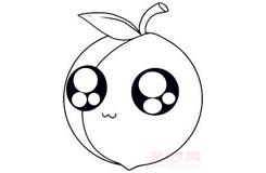 儿童简笔画桃子的画法 教你怎样画桃子简笔画