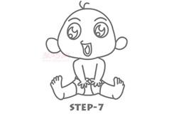 儿童简笔画婴儿的画法 教你如何画婴儿简笔画