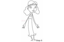儿童简笔画公主的画法 教你怎么画公主简笔画
