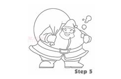 儿童简笔画圣诞老人的画法 教你怎样画圣诞老人简笔画