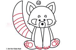 儿童简笔画小熊猫的画法 教你如何画小熊猫简笔画