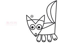 简易画臭鼬的步骤 画臭鼬的简笔画图片