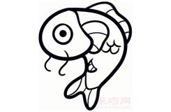儿童简笔画锦鲤鱼的画法 教你如何画锦鲤鱼简笔画