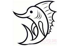儿童简笔画剑鱼的画法 教你如何画剑鱼简笔画