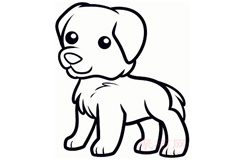 简笔画小金毛狗的画法 教你如何画小金毛狗简笔画