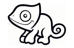 幼儿简笔画变色龙的画法 教你如何画变色龙简笔画