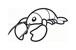 儿童简笔画龙虾的画法 教你如何画龙虾简笔画