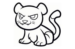 儿童简笔画美洲狮的画法 教你怎么画美洲狮简笔画