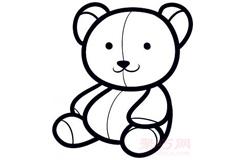 儿童简笔画泰迪熊的画法 教你怎样画泰迪熊简笔画