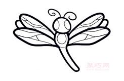 幼儿简笔画蜻蜓的画法 教你如何画蜻蜓简笔画