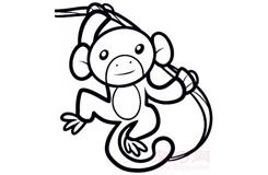 幼儿简笔画长臂猿的画法 教你如何画长臂猿简笔画