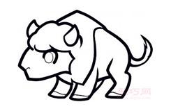 儿童简笔画水牛的画法 教你怎样画水牛简笔画