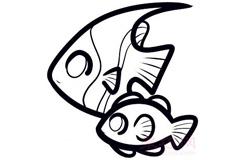 幼儿简笔画热带鱼的画法 教你怎样画热带鱼简笔画