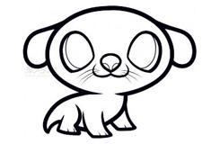 简易画大眼睛小狗的步骤 画大眼睛小狗的简笔画图片