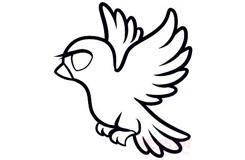 简易画鸽子的步骤 画鸽子的简笔画图片
