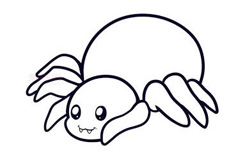 儿童简笔画蜘蛛的画法 教你如何画蜘蛛简笔画