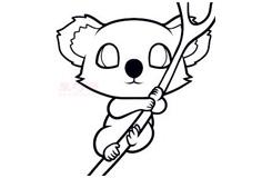 幼儿简笔画无尾熊的画法 教你如何画无尾熊简笔画