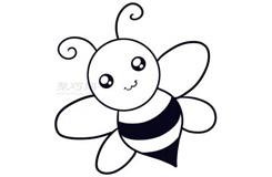 儿童简笔画蜜蜂的画法 教你怎么画蜜蜂简笔画