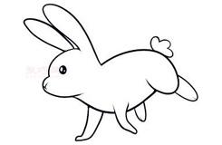 幼儿简笔画兔子的画法 教你怎样画兔子简笔画