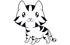 简易画小老虎的步骤 画小老虎的简笔画图片