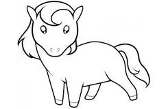 简易画小马的步骤 画小马的简笔画图片