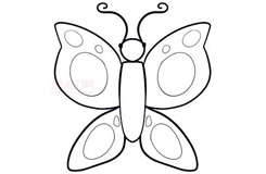 儿童简笔画蝴蝶的画法 教你如何画蝴蝶简笔画