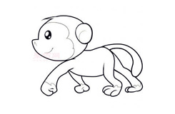 儿童简笔画小猴子的画法 教你如何画小猴子简笔画