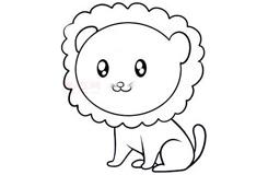 儿童简笔画小狮子的画法 教你如何画小狮子简笔画