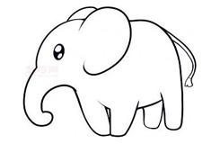 幼儿简笔画大象的画法 教你如何画大象简笔画