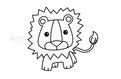 儿童简笔画狮子头的画法 教你怎样画狮子头简笔画