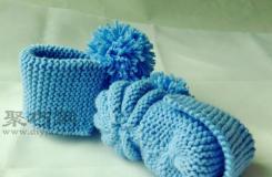 棒针宝宝鞋编织方法 教你用毛线怎样织宝宝鞋