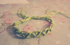 绳子编手链图解教程 教你编漂亮的手链