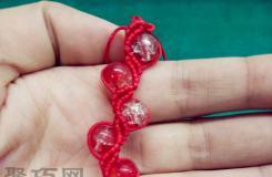 红绳子织珠子手链编法教程 教你如何织红绳手链