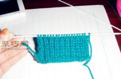 单元宝针围巾的织法 初学者手工编织围巾教程