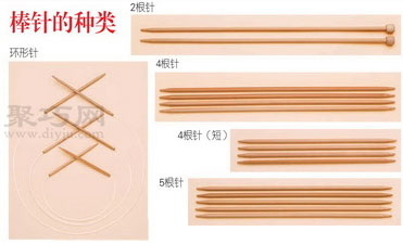 各种毛线对应的棒针型号