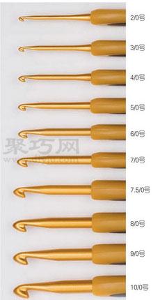 最常用的钩针型号 钩针的分类及钩针用线介绍