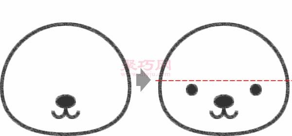 熊猫头像的画法步骤