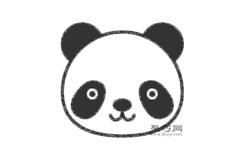 熊猫头像的画法步骤 教你怎么画熊猫头像简笔画