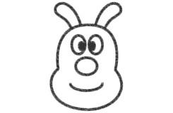 卡通狗狗脸的画法步骤 怎么画卡通狗狗脸简笔画