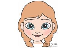 安娜公主的画法步骤 教你怎么画安娜公主简笔画
