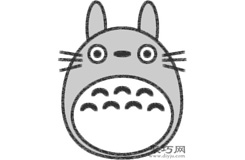龙猫的画法步骤 教你怎么画龙猫简笔画