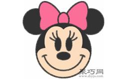 米老鼠米妮的画法步骤 教你怎么画米妮简笔画