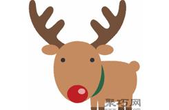 圣诞鹿的画法步骤 教你怎么画圣诞鹿简笔画