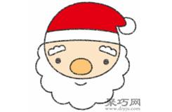 圣诞老人的画法步骤 教你怎么画圣诞老人简笔画