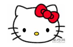 Hello Kitty凯蒂猫的画法步骤 怎么画凯蒂猫简笔画